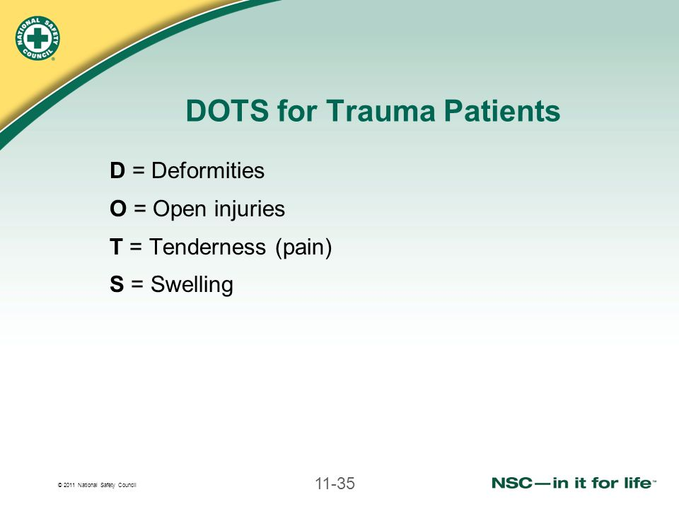 DOTS for Trauma Patients