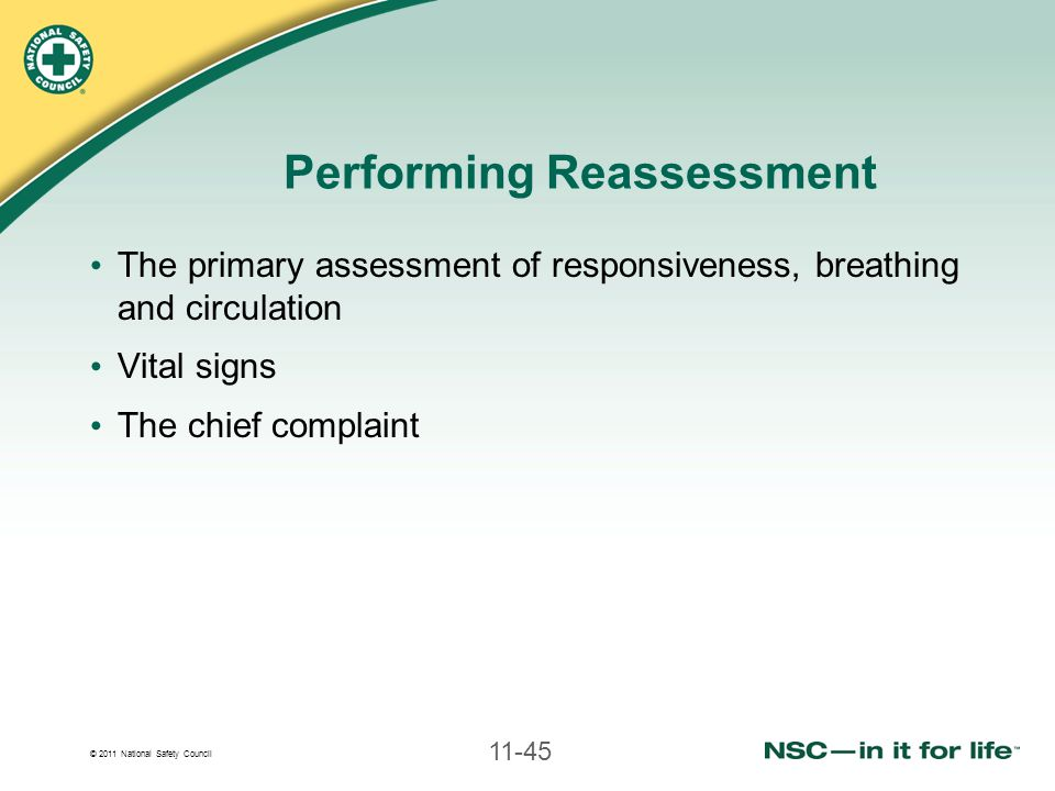 Performing Reassessment