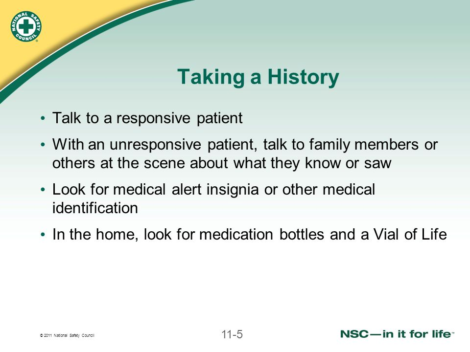 Taking a History Talk to a responsive patient
