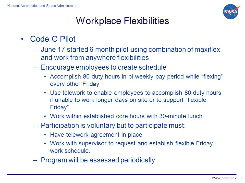 Workplace Flexibilities