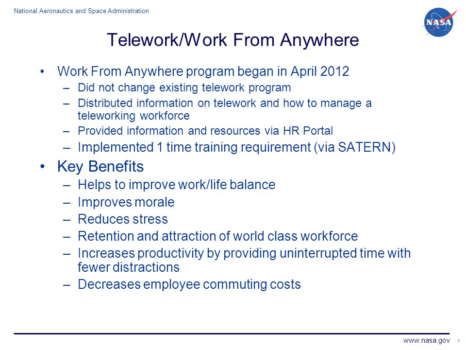Telework/Work From Anywhere