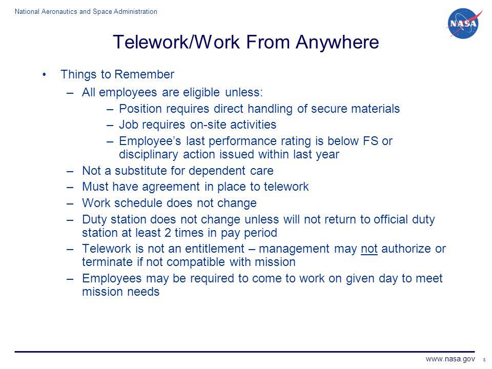 Telework/Work From Anywhere