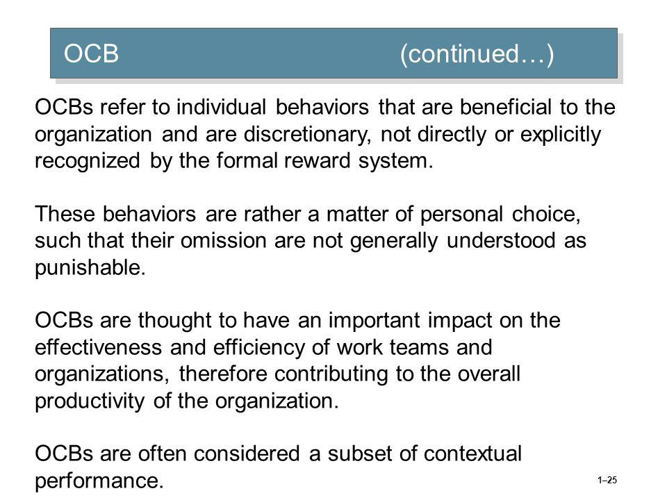 OCB (continued…)