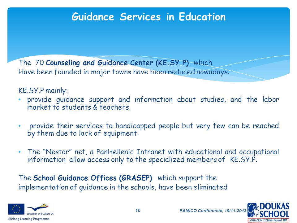 Guidance Services in Education