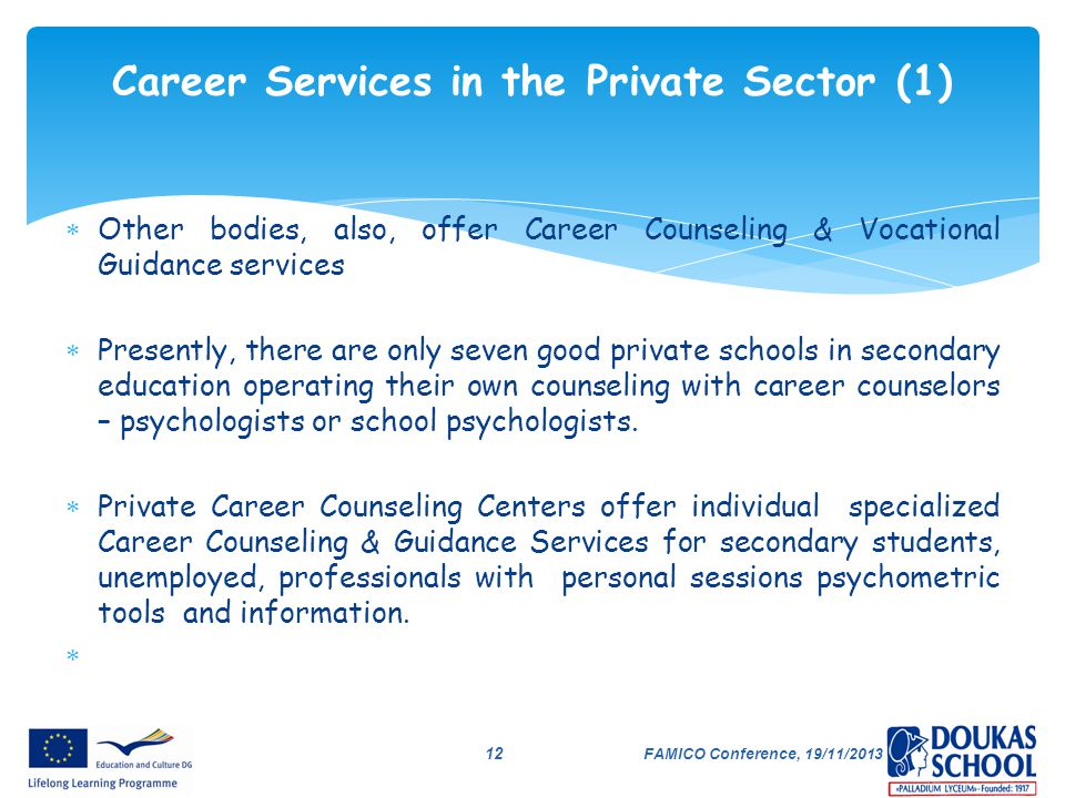Career Services in the Private Sector (1)