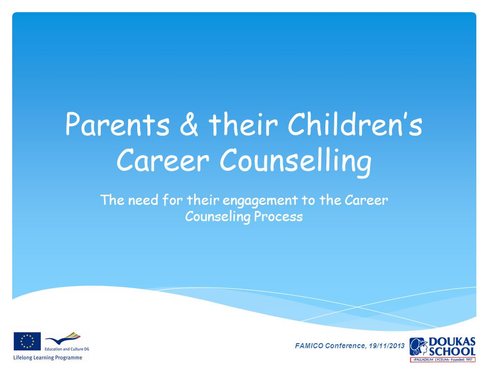 Parents & their Children's Career Counselling