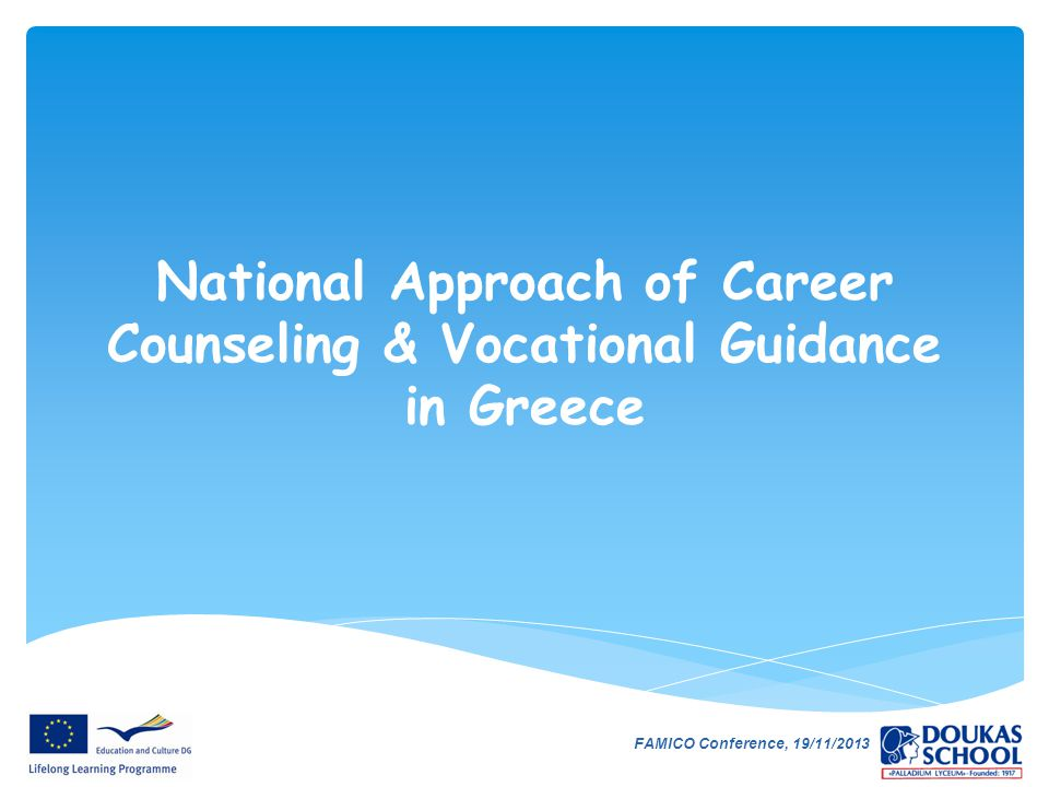 National Approach of Career Counseling & Vocational Guidance in Greece