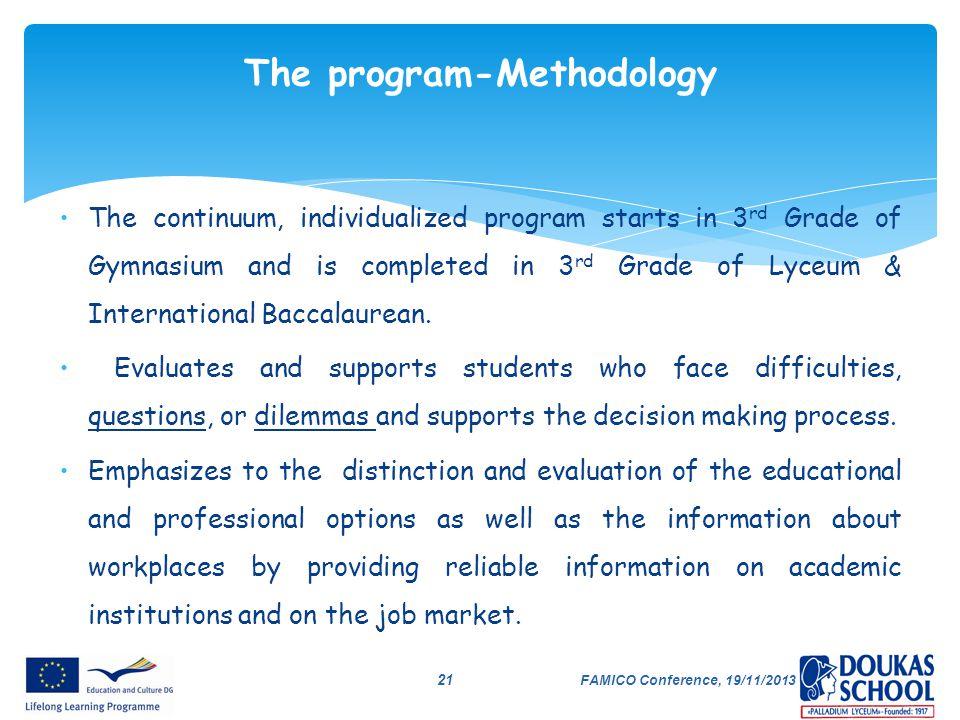 The program-Methodology