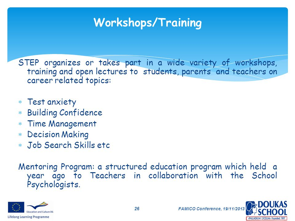 Workshops/Training