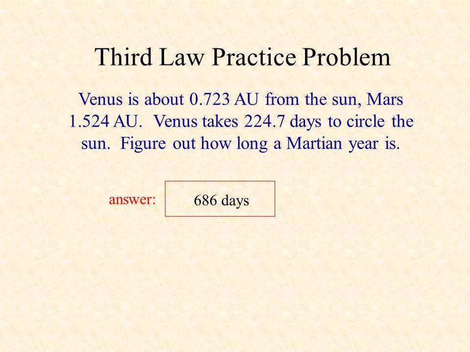 Third Law Practice Problem