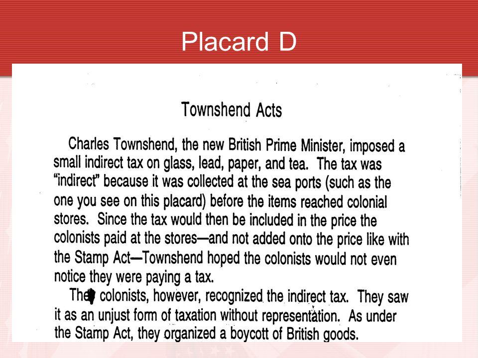 Placard D