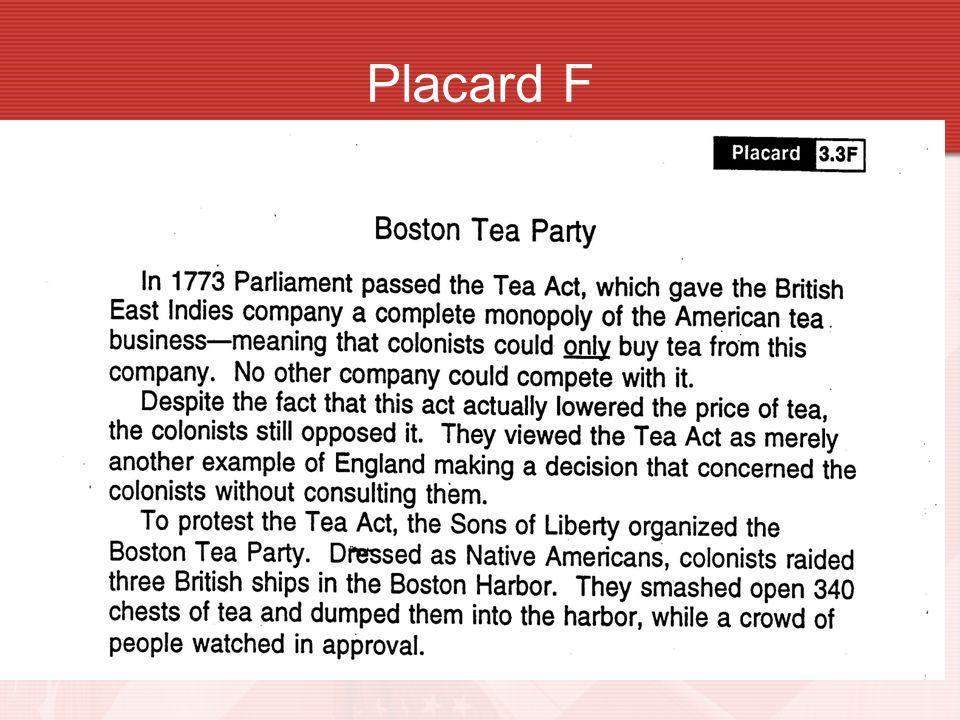 Placard F