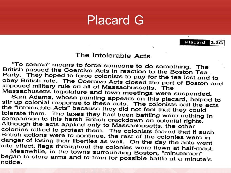 Placard G