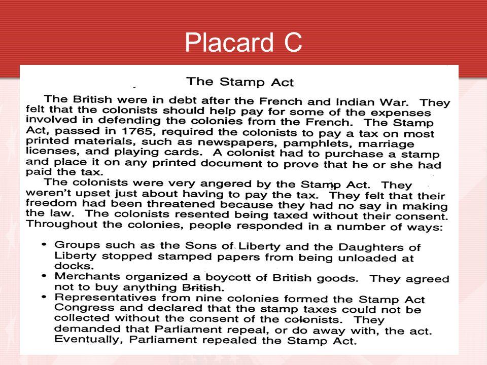 Placard C