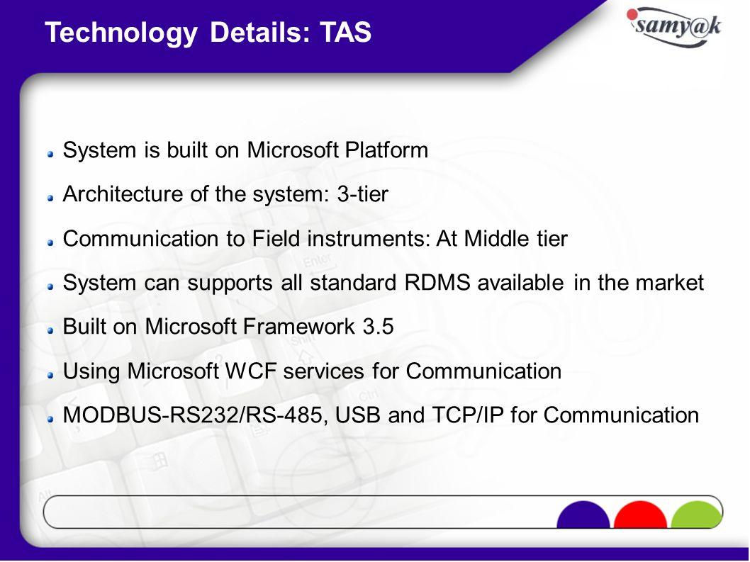 Technology Details: TAS