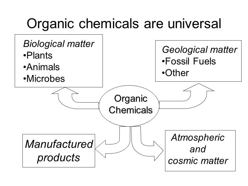 Organic chemicals are universal