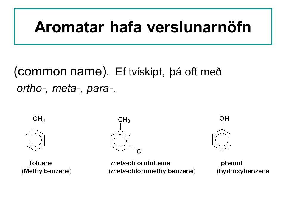 Aromatar hafa verslunarnöfn