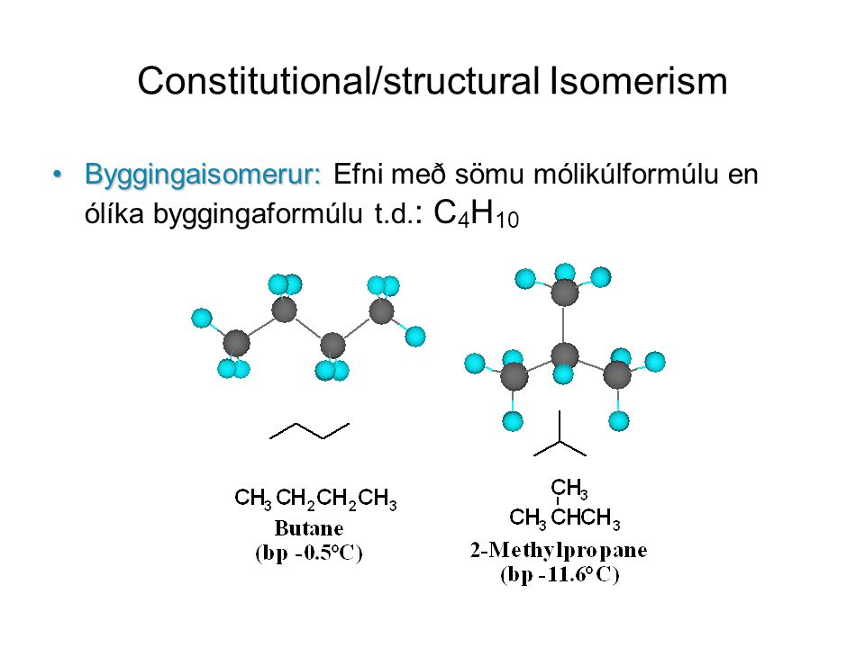 Constitutional/structural Isomerism