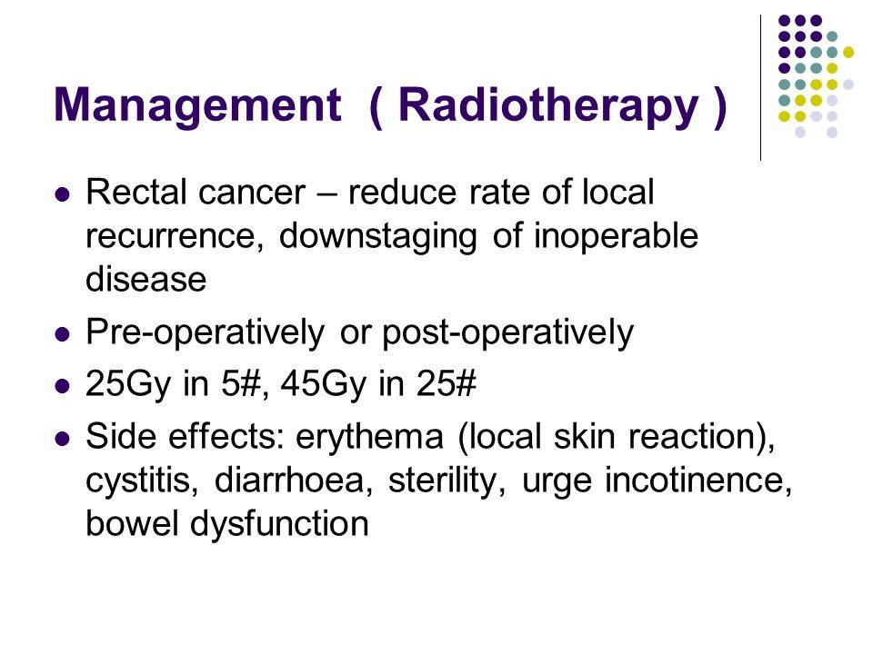 Management ( Radiotherapy )