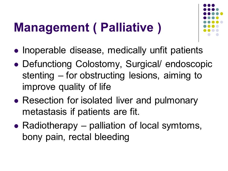 Management ( Palliative )