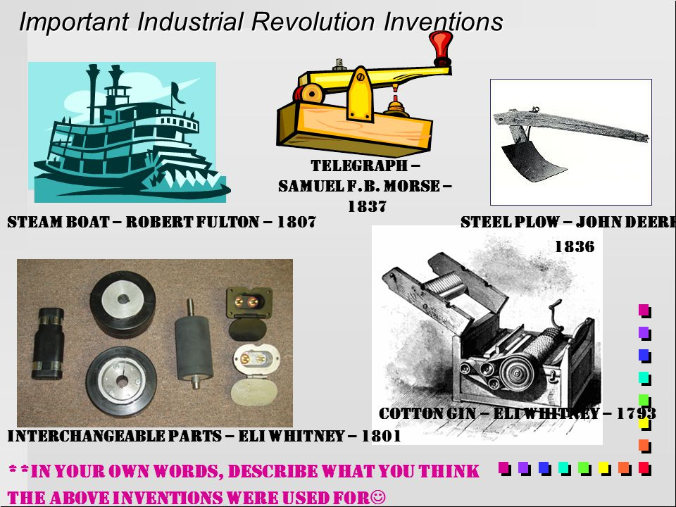 Important Industrial Revolution Inventions