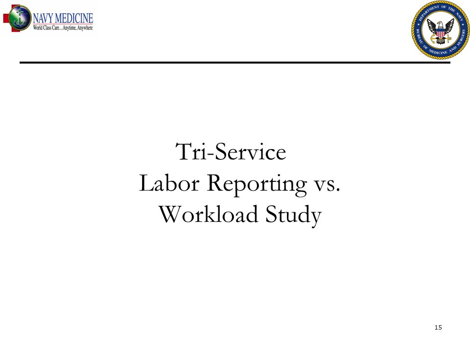 Tri-Service Labor Reporting vs. Workload Study