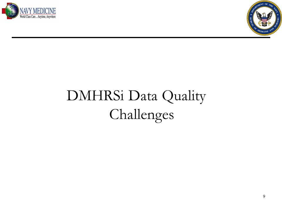 DMHRSi Data Quality Challenges