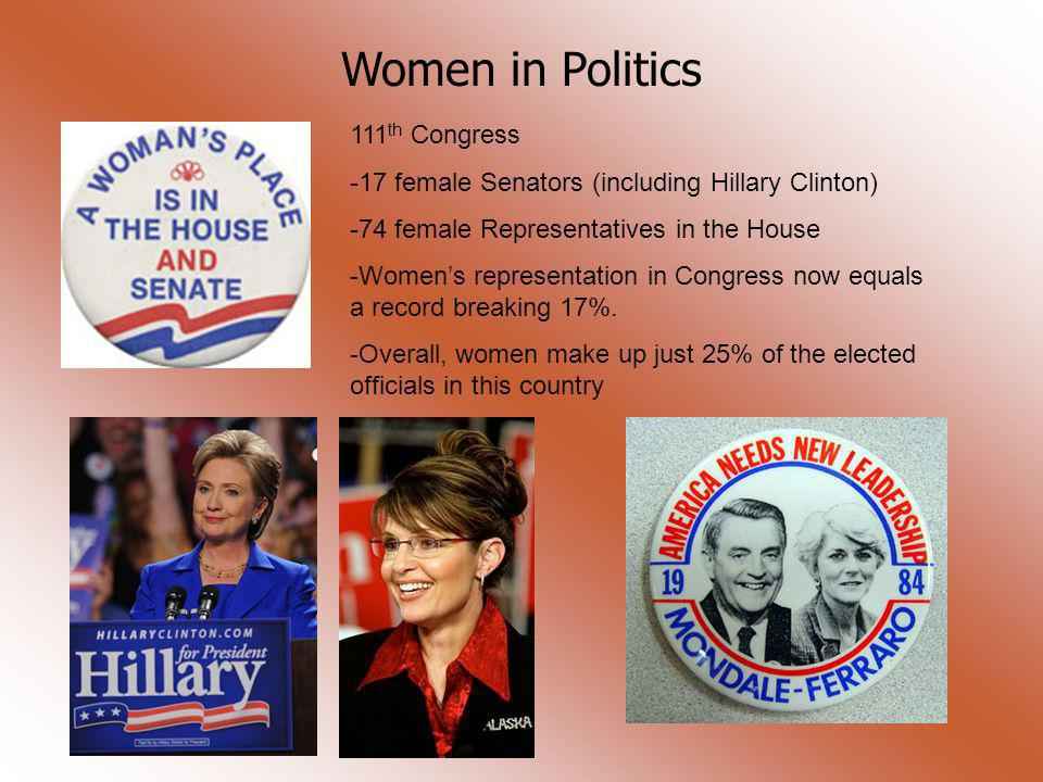 Women in Politics 111th Congress