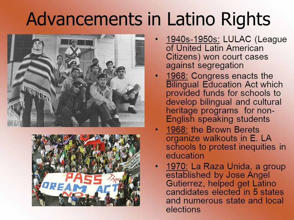 Advancements in Latino Rights