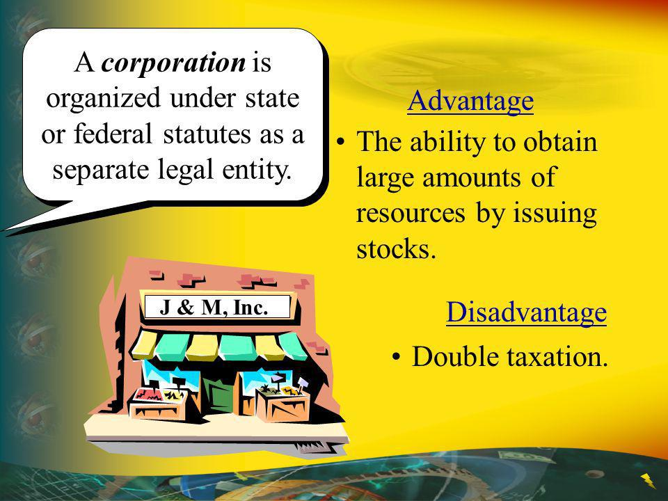 The ability to obtain large amounts of resources by issuing stocks.