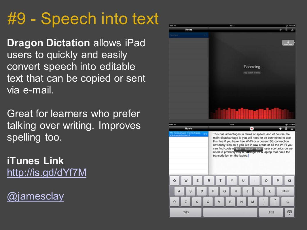 #9 - Speech into text