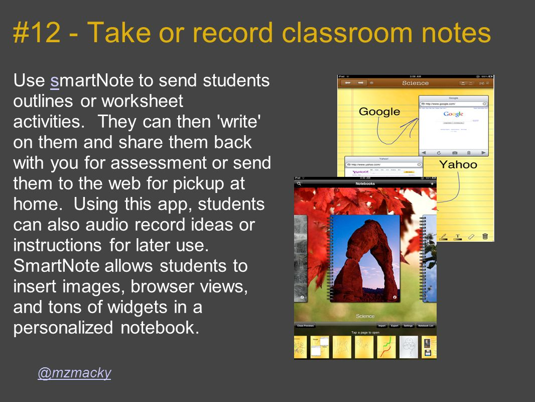 #12 - Take or record classroom notes