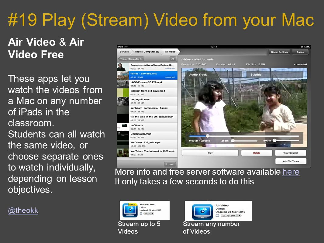 #19 Play (Stream) Video from your Mac