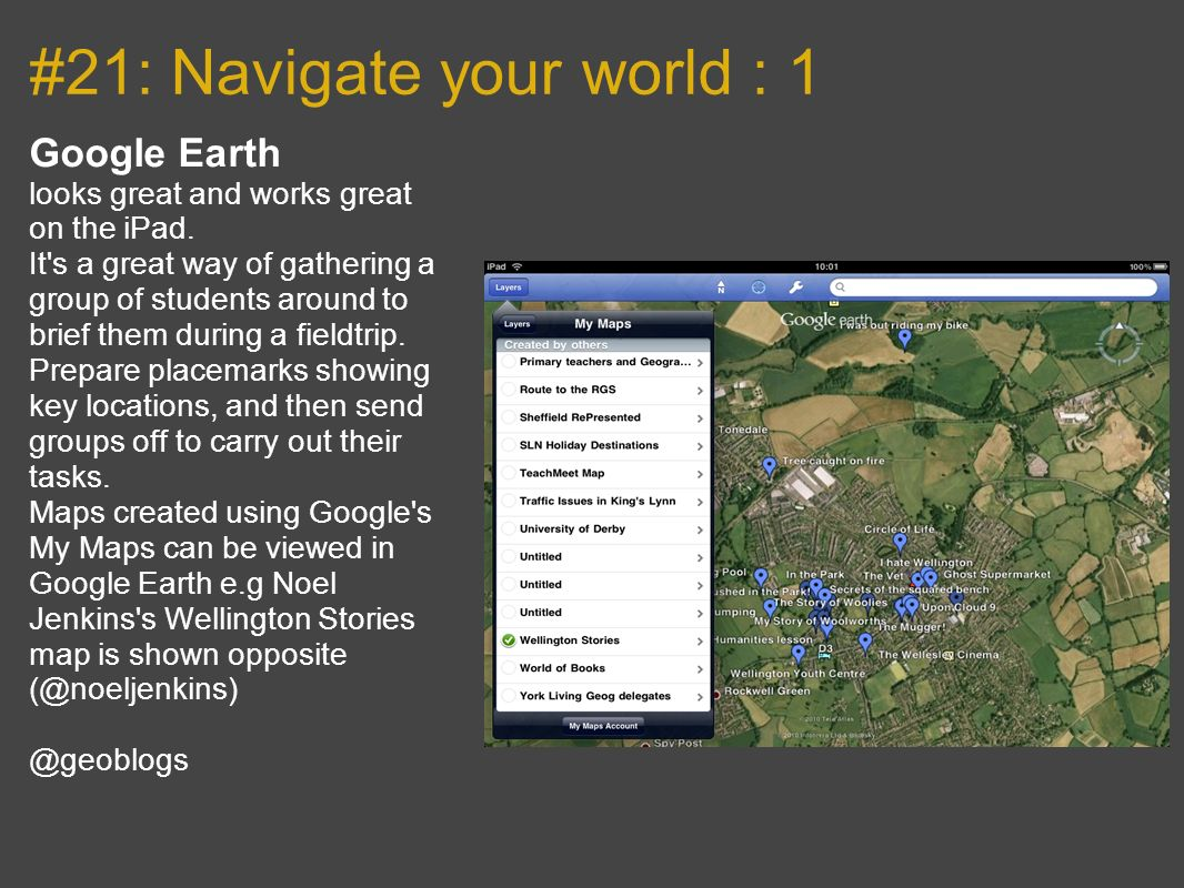 #21: Navigate your world : 1