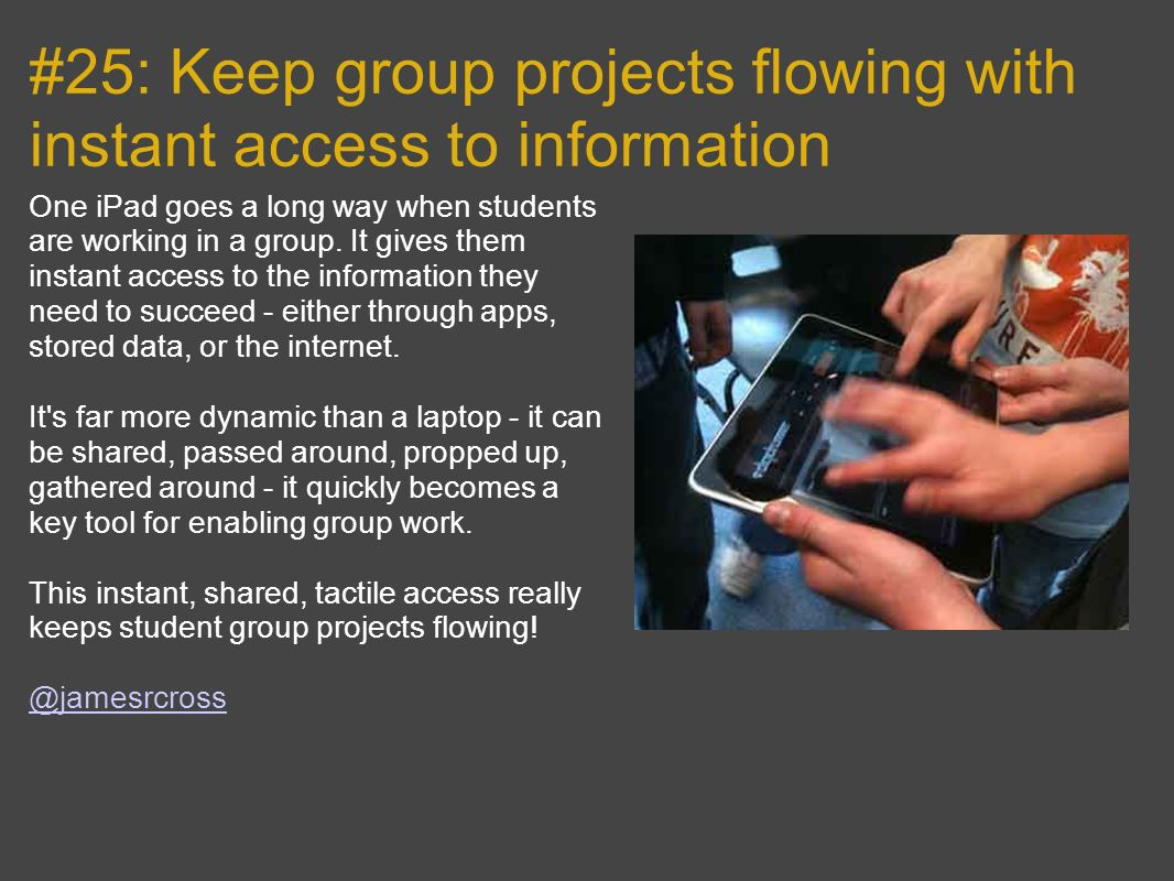 #25: Keep group projects flowing with instant access to information