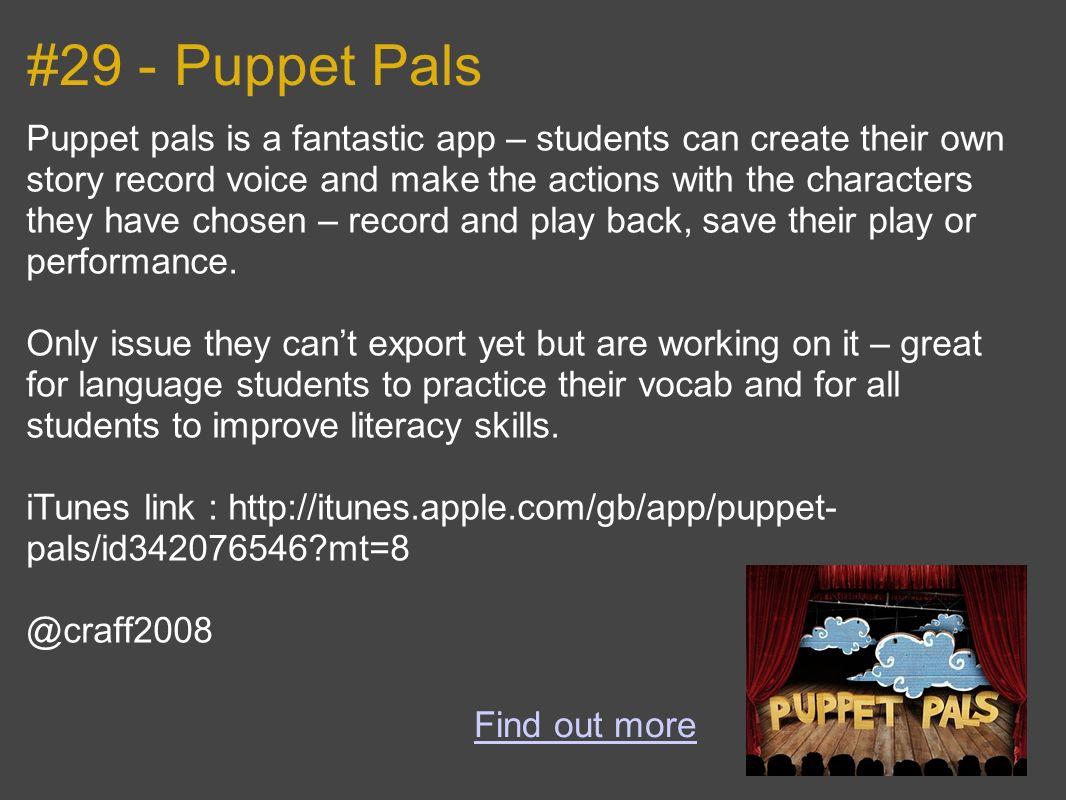 #29 - Puppet Pals