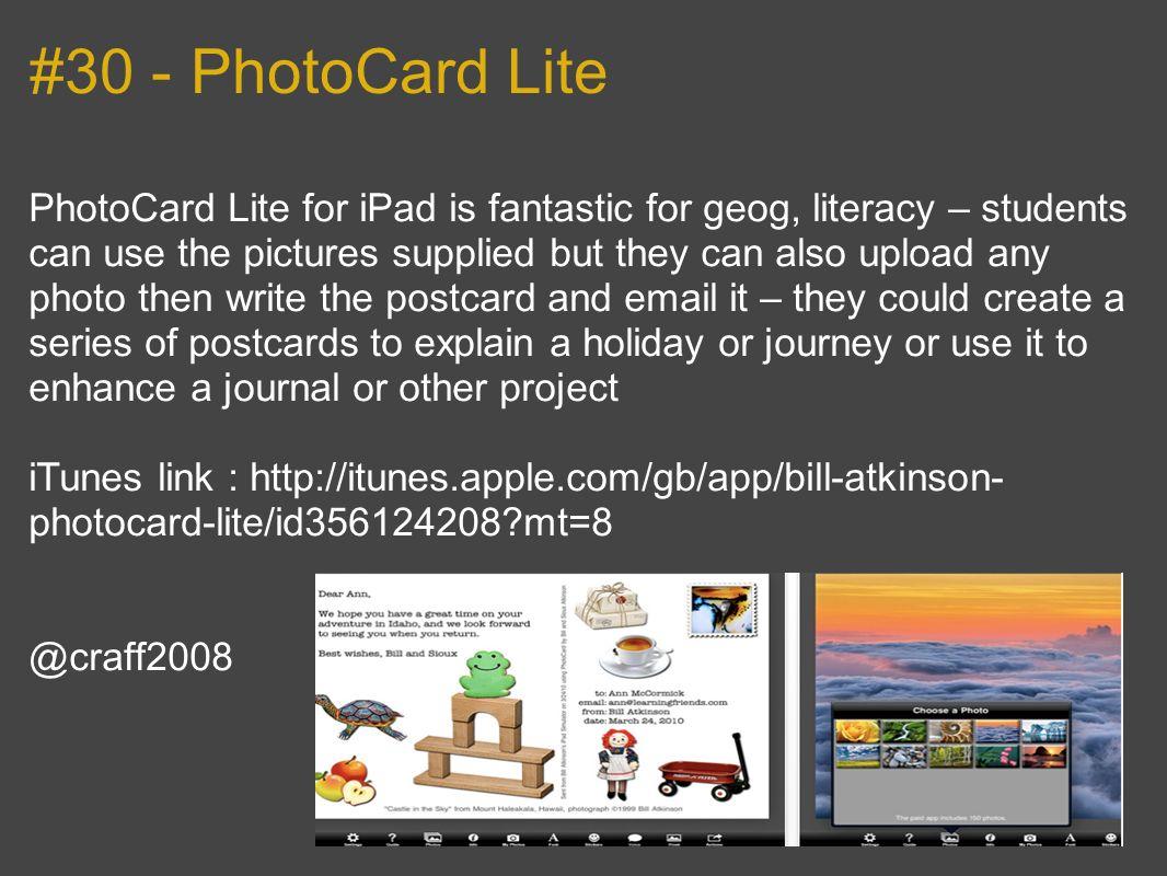 #30 - PhotoCard Lite
