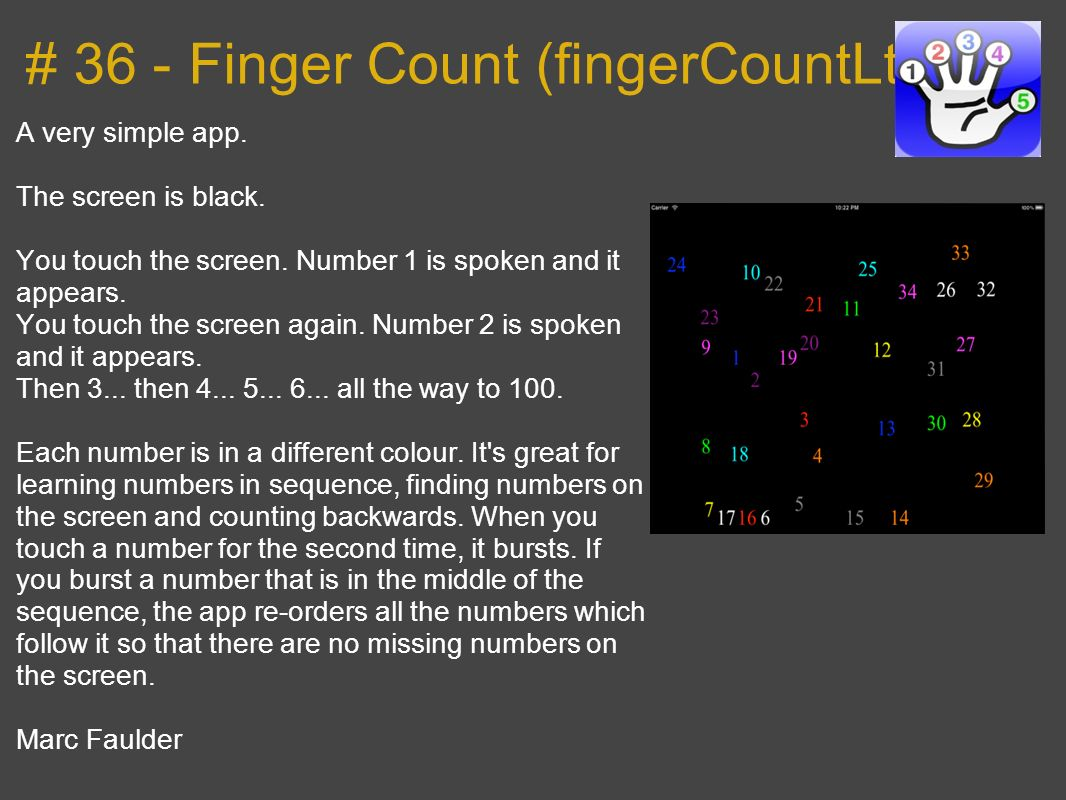# 36 - Finger Count (fingerCountLt)