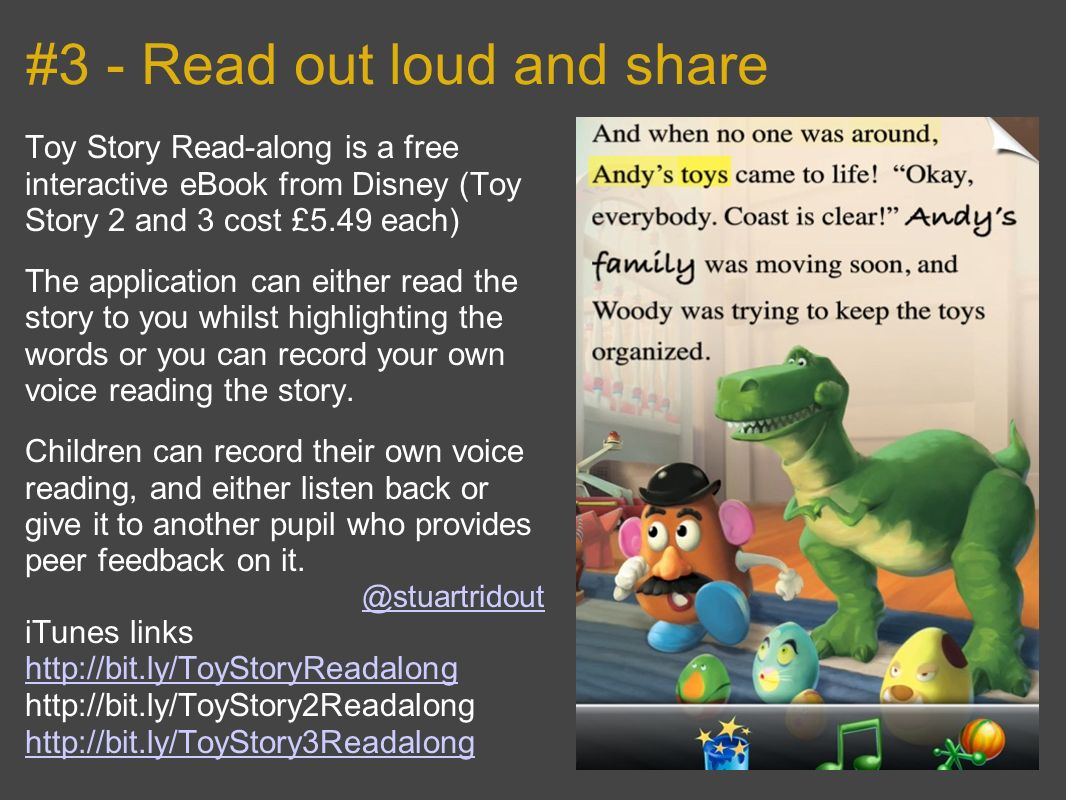 #3 - Read out loud and share