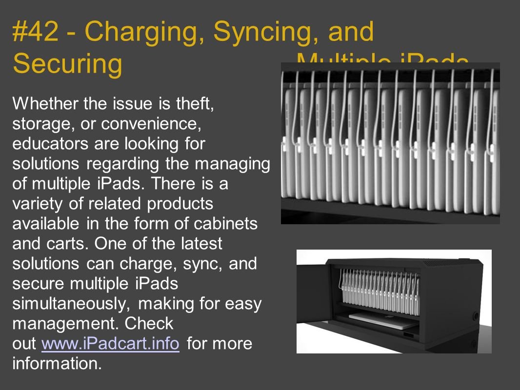 #42 - Charging, Syncing, and Securing - Multiple iPads