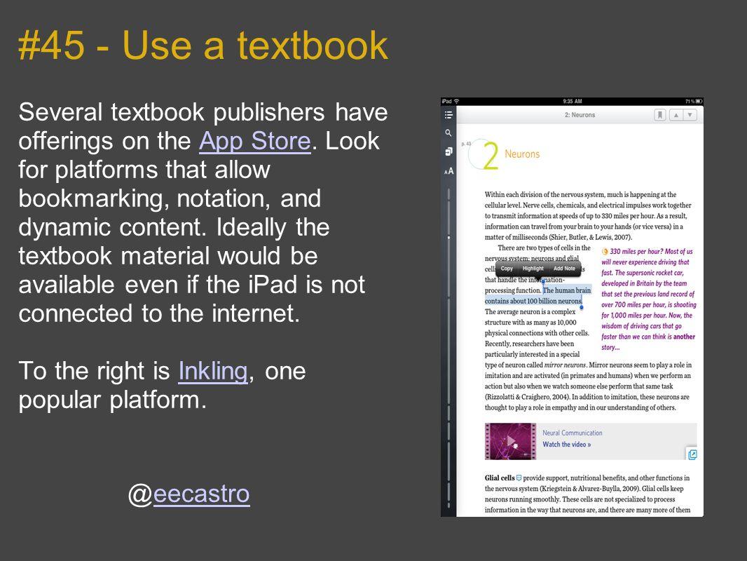 #45 - Use a textbook
