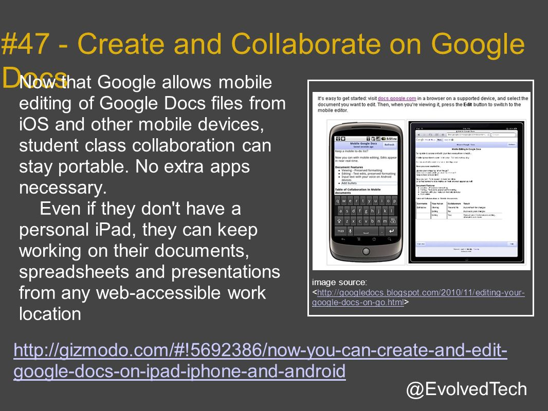 #47 - Create and Collaborate on Google Docs