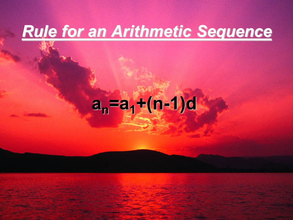 Rule for an Arithmetic Sequence
