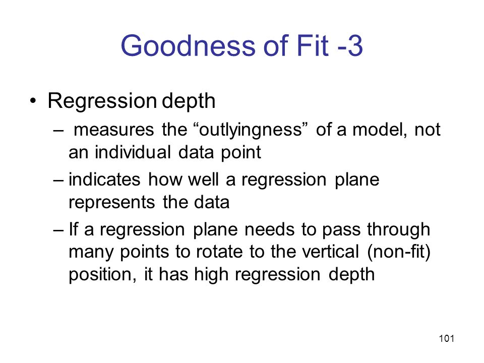 Goodness of Fit -3 Regression depth