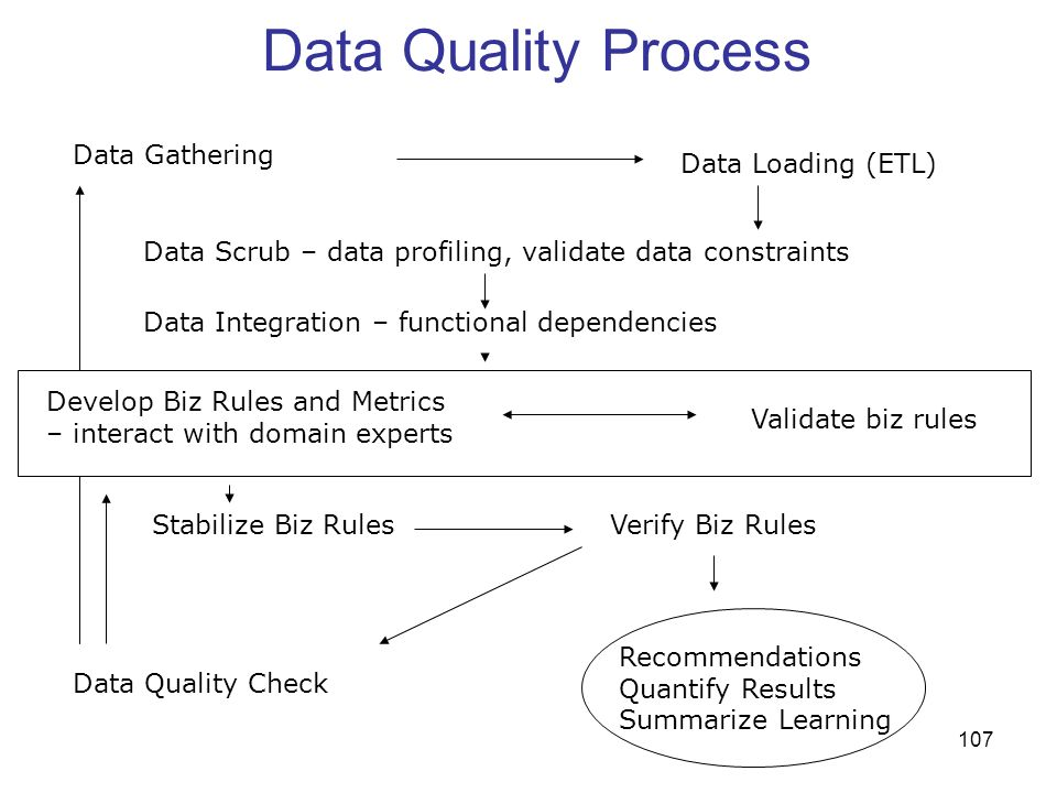 Data Quality Process Data Gathering Data Loading (ETL)