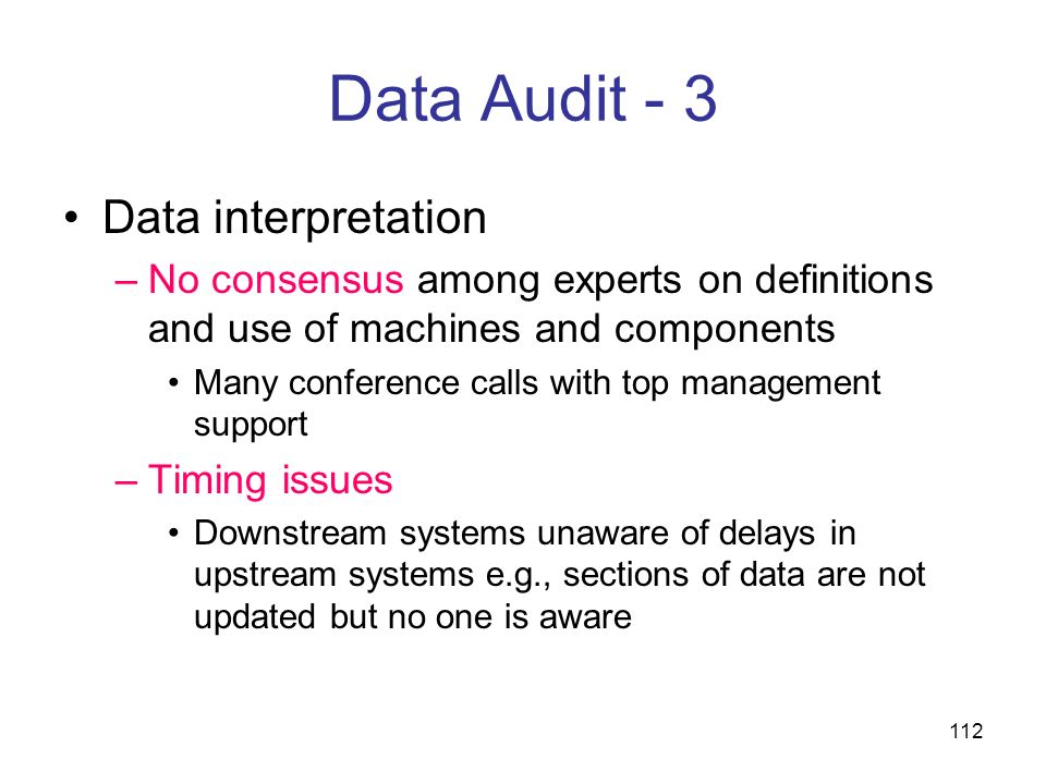 Data Audit - 3 Data interpretation