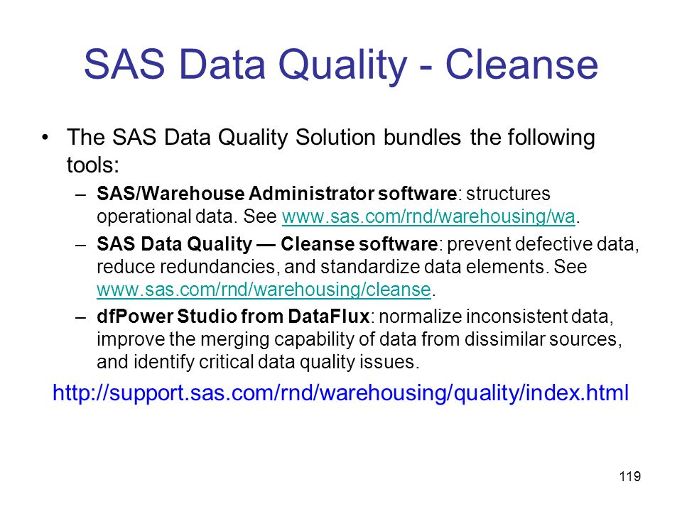 SAS Data Quality - Cleanse