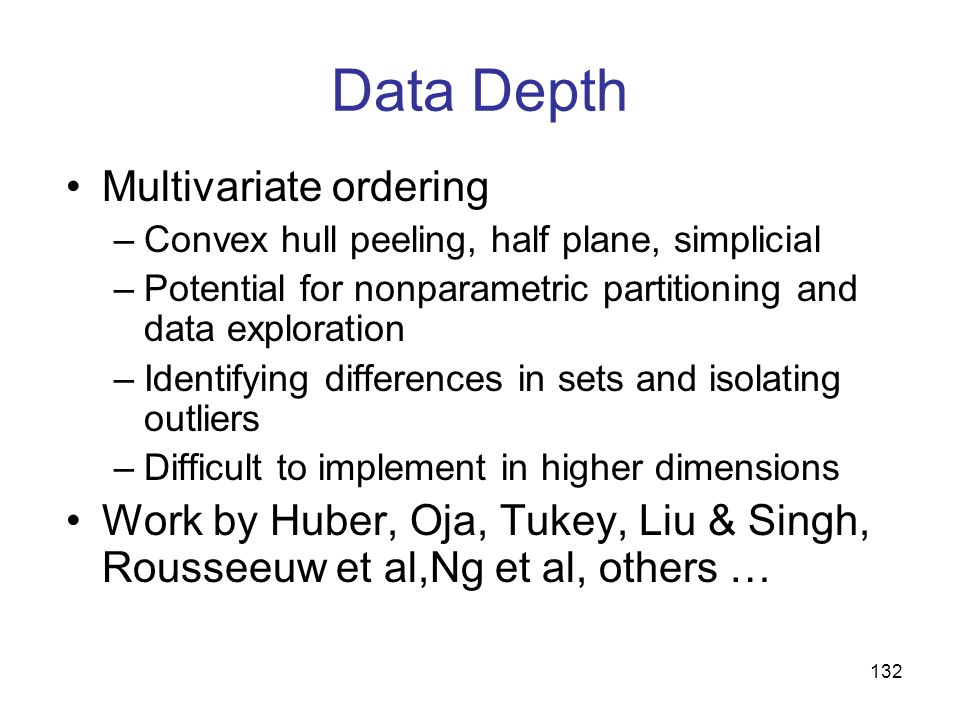 Data Depth Multivariate ordering