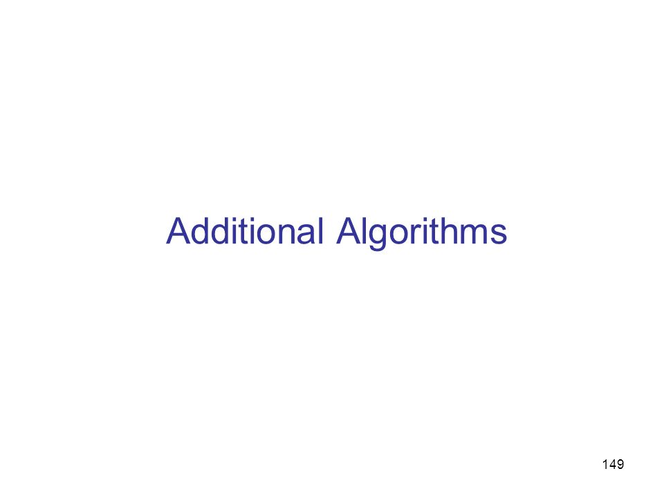 Additional Algorithms