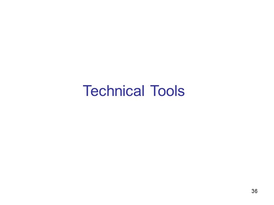 Technical Tools